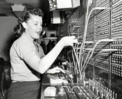Chicago-CTA Switchboard-Operator-Merchandise-Mart-1957