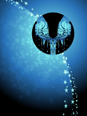 4944750 - aquarius zodiac background